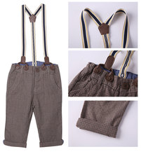Baby Boys Overall Pants Cotton Boutqiue Clothes for Little Kids