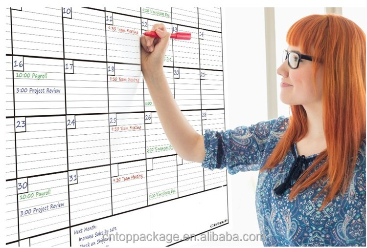 Giant Size Erasable Wall Monthly/Weekly Planner Organizer Calendar Printing