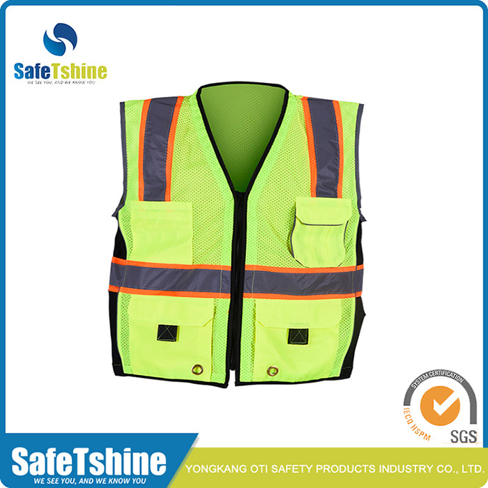 high visibility safety cheap reflective vest