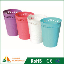 Household Desktop Trash Can Colorful Decorative Waste Paper Basket