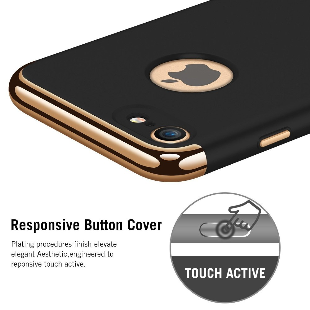 C&T 3-in-1 Anti-Scratch Shockproof Electroplate Frame with Ultra Slim Coated Surface Case for iPhone 7 plus