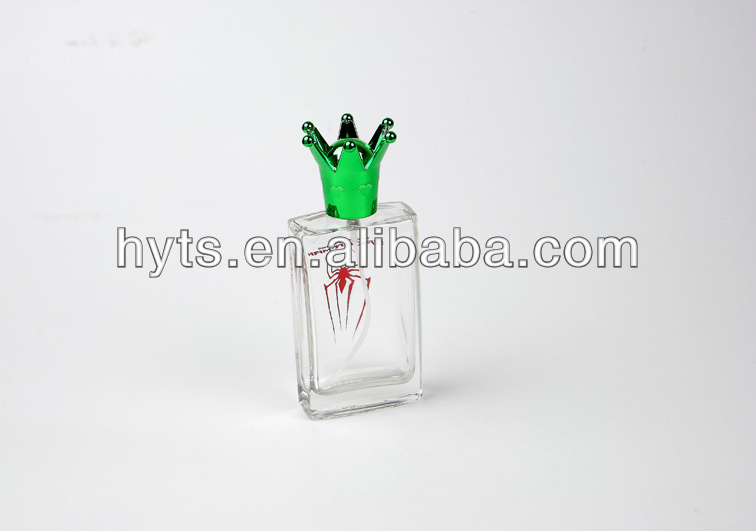 hot sale fancy fancy 50 ml perfume glass bottles with crown cap