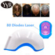 YYR CE approved 80 diodes laser therapy for hair loss laser hair growth cap