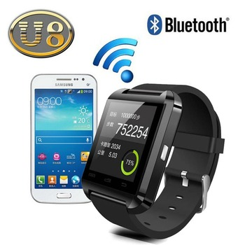 Waterproof Android Smart Watch U8, U8 Smart Watch with Camera and SIM Card Slot