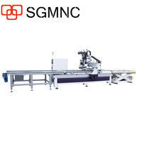 Multi function cnc woodworking machine , router cnc drilling machine for wood furniture production line