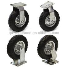"4pcs 8"" Air Tire Caster Wheels 2pc Rigid 2pc Swivel Heavy Duty"