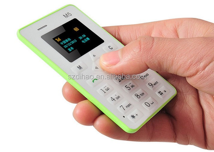 DIHAO wholesale couples student green card size m5 cherry mobile phone