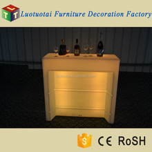 illuminated LED portable mobile bar for outdoor party, event, wedding