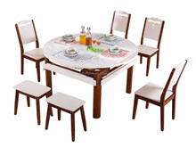 Popular dining room furniture ideas square round table marble top