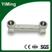 YiMing Double Female Tee with Tap Connector in Ppr Fittings