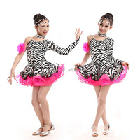 Good quality leopard print dance costume modern western cheer dance costumes zebra color stage performance costume