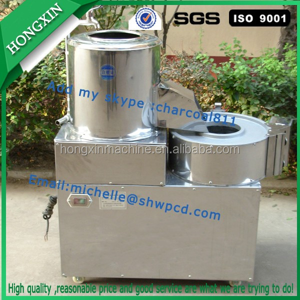 multi-function potato washing machine, potato peeling and cutting machine, potato chips cutting machine