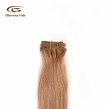 New Products Shiny Remy human hair blonde hair extension wholesale