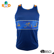 New Fashion Men Clothes Solid Color Sleeveless Slim Fit T Shirt Men Plain polyester T-Shirt
