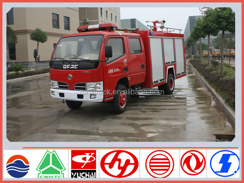 China brand new dongfeng fred card 4*2 2ton mini fire truck for sale in kenya