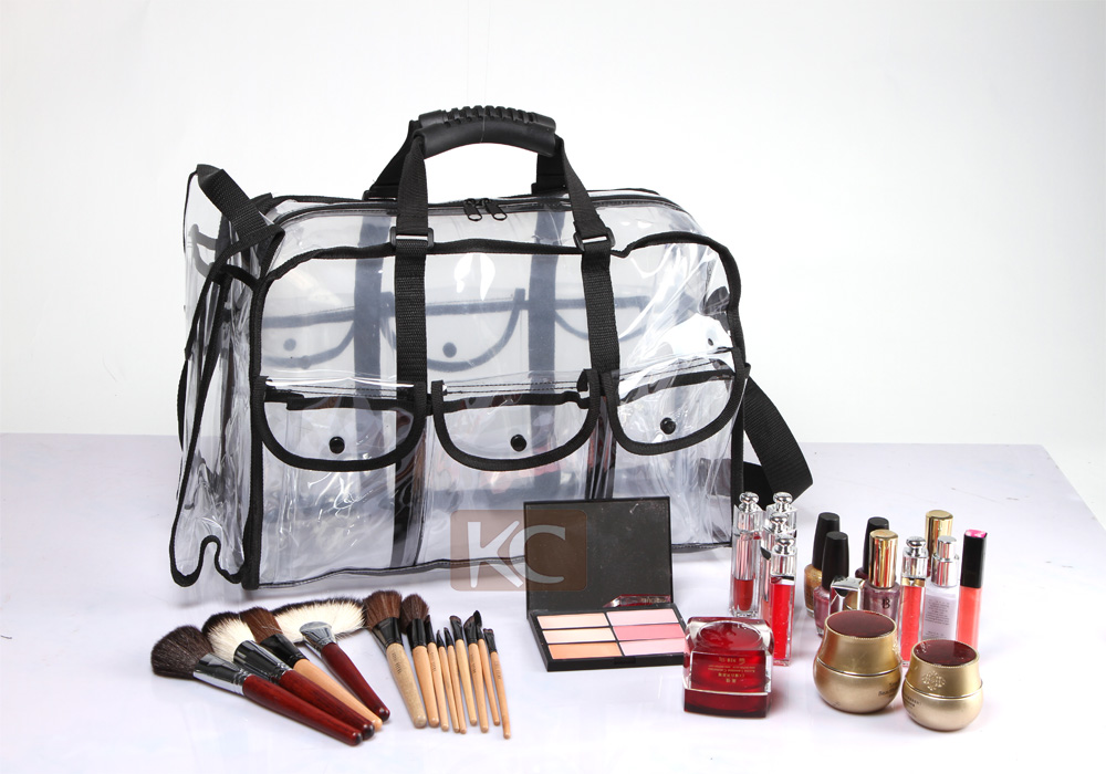 Factory wholesale custom transparent pvc beauty bag new products makeup brush bag