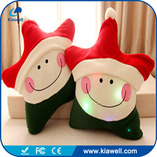 ODM and OEM soft colorful night light luminous star father christmas plush stuffed toy