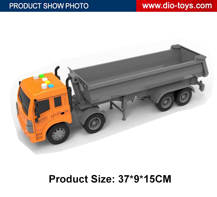 hot product 1/16 plastic vehicle toy friction truck with sound lights