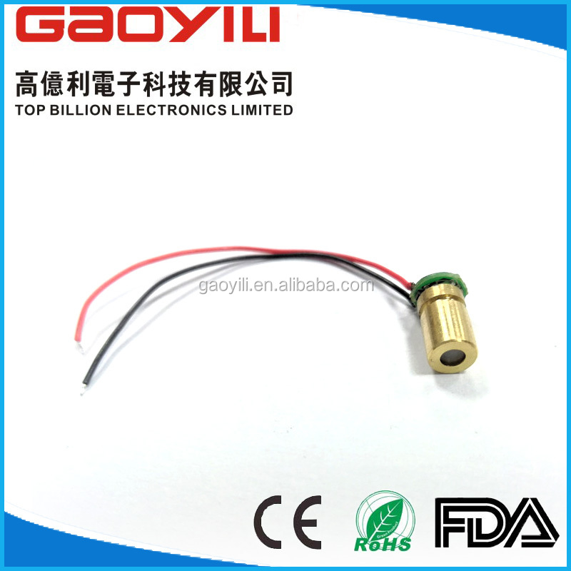 OEM 650nm diode laser TO- 18 laser module /5mw cross shaped laser module with Rohs