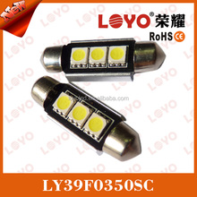canbus and heat sink auto festoon led 39mm 3smd High quality c5w canbus,festoon led 39mm,car led lights 5050 festoon led 39mm