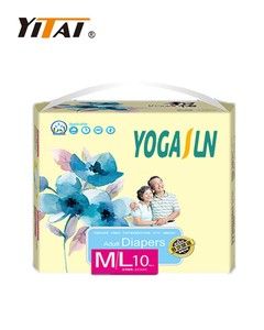 Printed adult diaper; disposable adult diapers with factory price