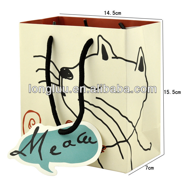 New design paper handbag /high quality gift paper bag