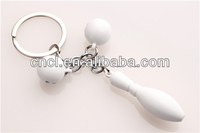 metal key shape keychain/ blank metal bowl shape keyring
