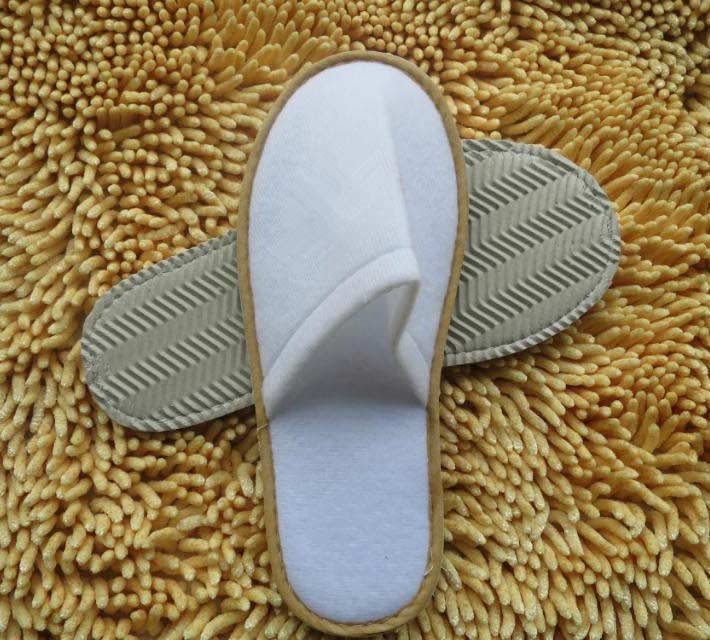 Brushed Fabric Printed Disposable Slippers for Hotels