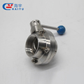 Sanitary stainless steel clamp end butterfly valve