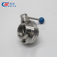Sanitary Stainless Steel Clamp End Butterfly