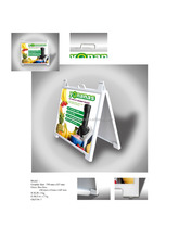 Plastic pvc board sidewalk sign advertising board A board