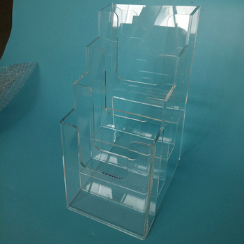 Wholesale Customized acrylic brochure holder leaflet display made by Chinese factory in shenzhen