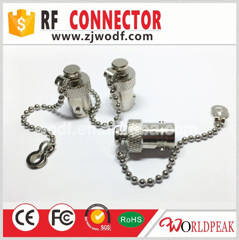 rf connector BNC type female Protective dust cap with chain