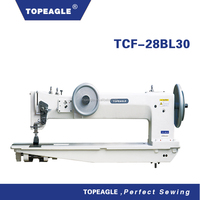 TOPEAGLE TCF-28BL30 double needle compound feed sewing machine industrial