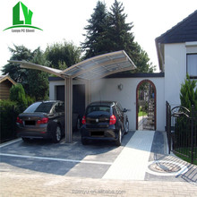 strong aluminium frame decorative double carport with arched roof
