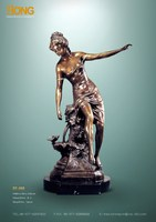EP-008 sculpture nue sculpture bronze beautiful lady statue