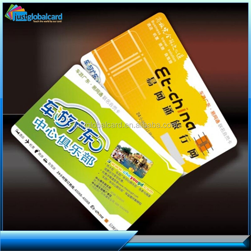 PVC/ABS Plastic Contact Chip Smart Card With Magnetic Strip,IC Card