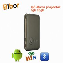 M6 1g16g android4.4 Android DLP LED Full HD Mini Projector for Smartphone/ projecteur/ proyector with Wifi Miracast