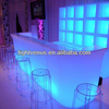 led furniture bar light counter indoor plastic rechargeable glowing party table