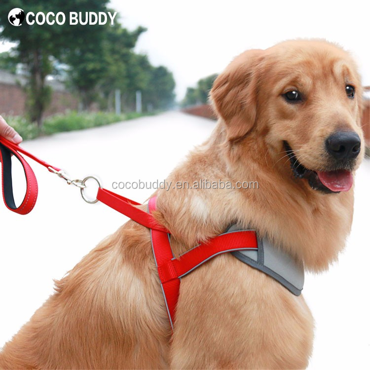 Soft & Comfortable Reflective Nylon No Pull Neoprene Padded Training Dog Harness