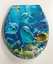 duroplast toilet seat with sea world printing
