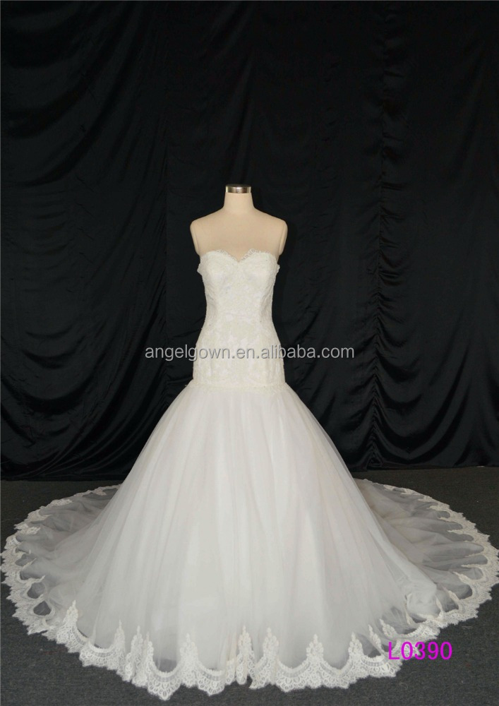 Sweet heart lace mermaid wedding dress alibaba hot sale for Heart shaped mermaid wedding dresses