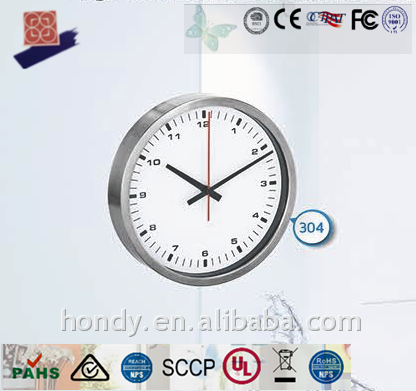 High Class Expensive Extraordinary Large 400MM DCF/ MSF /JJY/ WWVB Stainless Steel 18/10 Radio Controlled Analog Wall Clock