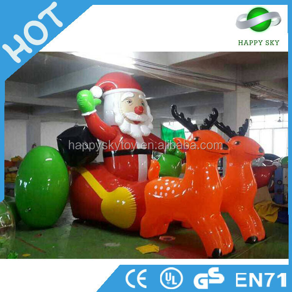 6m Commerial Oxford Inflatable Santa Claus, outdoor Christmas model inflatable,inflatable christmas decorations