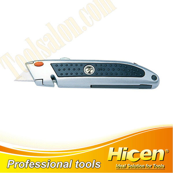 Heavy Duty Zinc Alloy Retractable Box Cutter Utility Knife