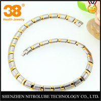 latest design beads necklace with gold & silver of magnetic necklace