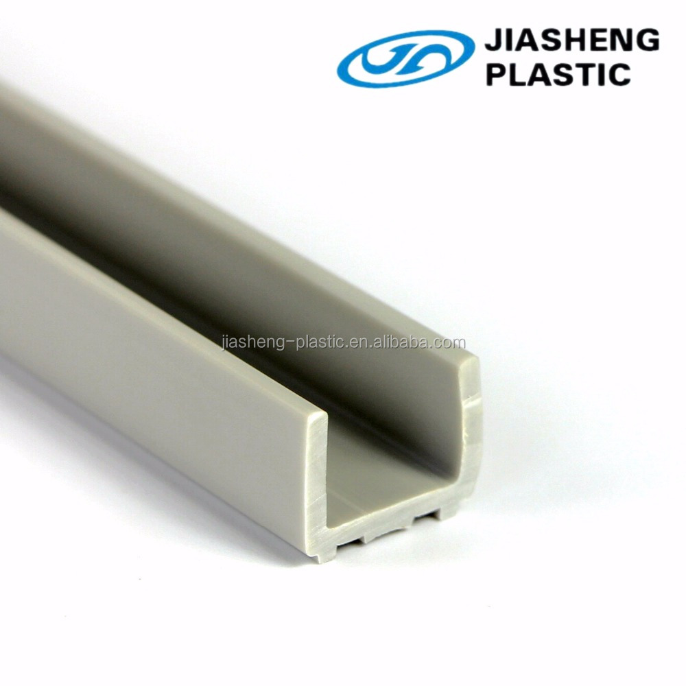 high quality u-shaped plastic extrusion/upvc/pvc profiles