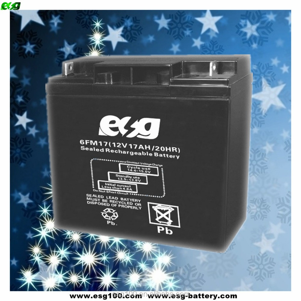Valve regulated lead acid battery 12v 17ah AGM UPS battery