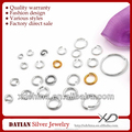 XD P050 925 sterling silver open jump ring colored jump rings