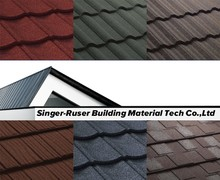 Nigeria New Style Of Aluminum Roofing Products Stone Covered Metal Roofing Tiles Buldings,Villa roof cover for house